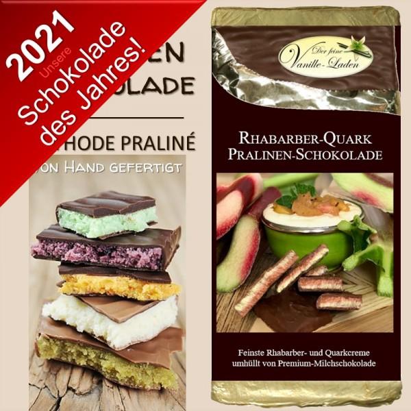 Rhabarber-Quark Pralinen-Schokolade