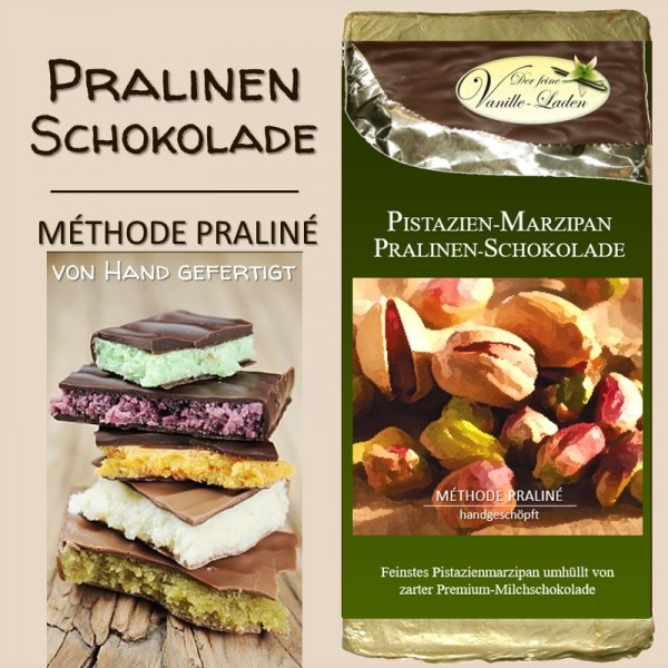 Pistazie-Marzipan Pralinen-Schokolade