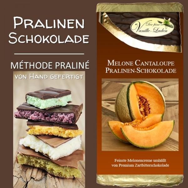 Melone Cantaloupe Pralinen-Schokolade