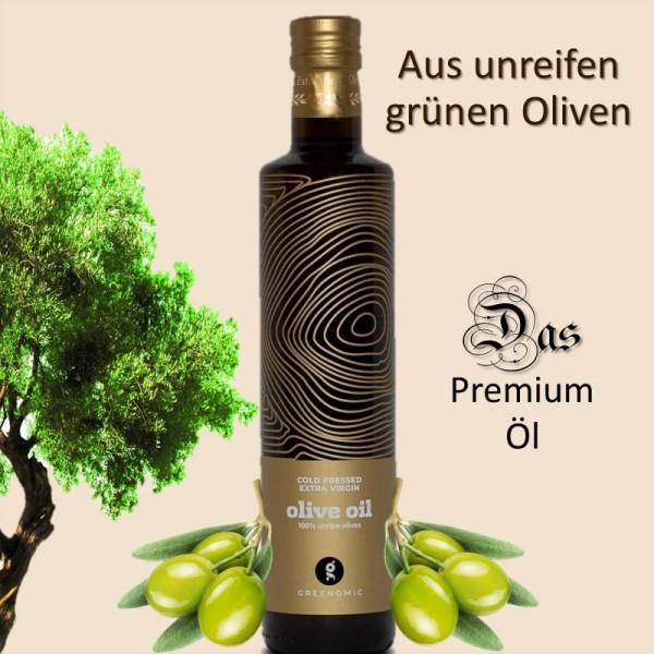 Alpha Extra natives Olivenöl aus unreifen grünen Oliven