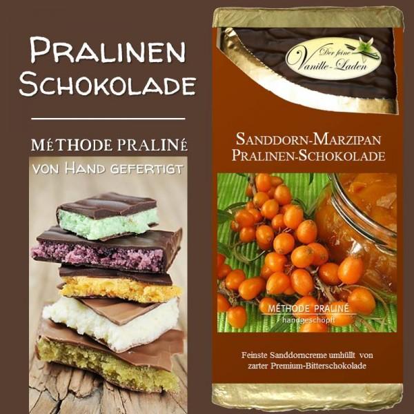 Sanddorn-Marzipan Pralinen-Schokolade
