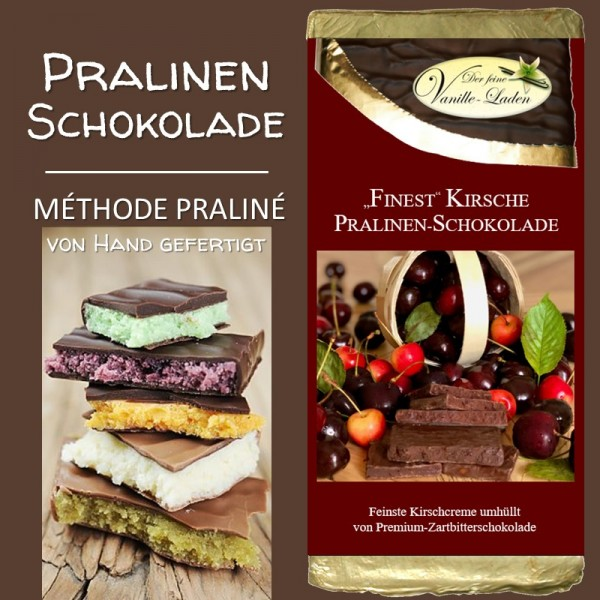 """Kirsche """"FINEST"""" Pralinen-Schokolade"""