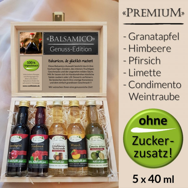 """Balsamico Geschenk-Set """"PREMIUM"""" (OHNE ZUCKERZUSATZ!)"""