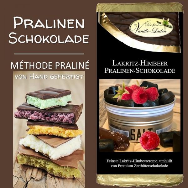 Lakritz-Himbeer Pralinen-Schokolade