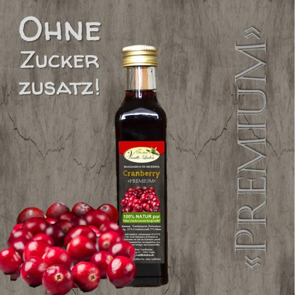 """Balsamico """"PREMIUM"""" Cranberry (OHNE ZUCKERZUSATZ!)"""