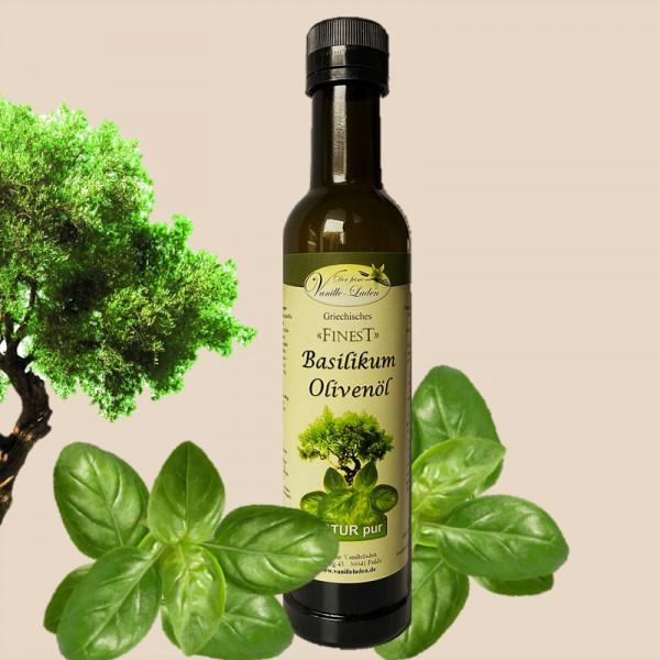 Basilikum-Olivenöl aus Kreta
