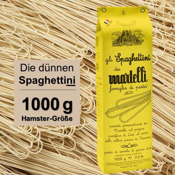 Die dünnen Spaghettini Martelli - aus der Toscana