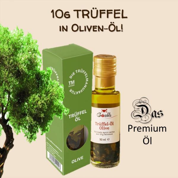 """Trüffelöl """"Olive"""" mit 10 g Trüffelscheiben (90 ml)"""
