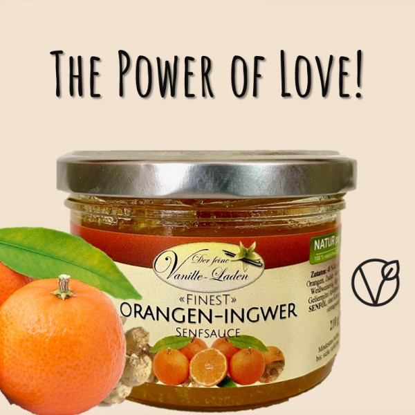 Orangen-Ingwer Senfsauce