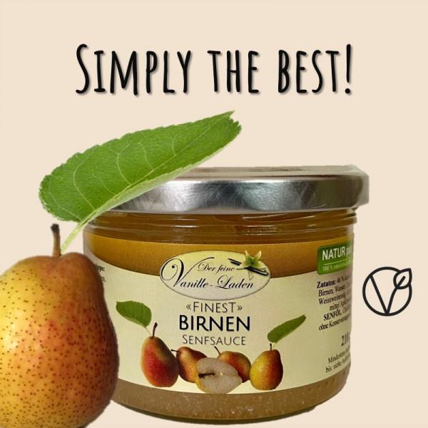 Birnen-Senfsauce mit süßen Chilifäden
