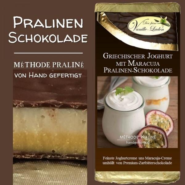 Griechischer Joghurt mit Maracuja Pralinen-Schokolade