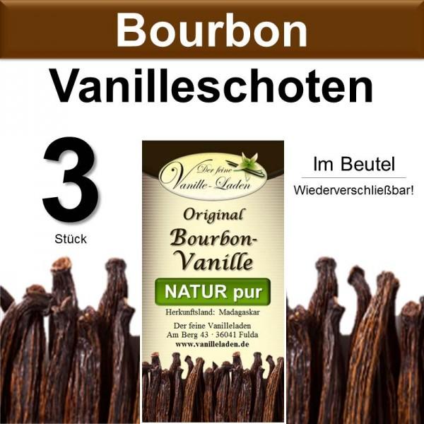 Original Bourbon-Vanille Schoten (3 Stück)