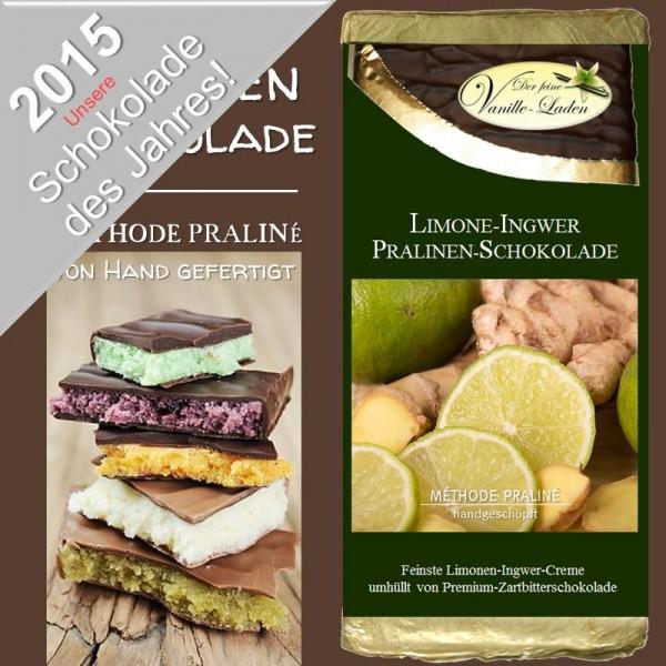 """Limone-Ingwer Pralinen-Schokolade """"Schokolade des Jahres 2014/2015"""""""