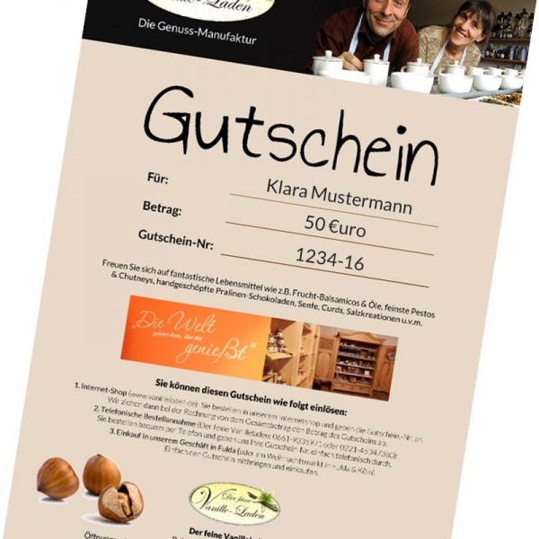 Gutschein Vanilleladen (50 €)