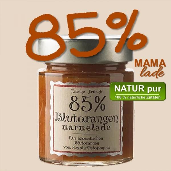 85% BLUTORANGEN MARMELADE vom Argolis, Peleponnes