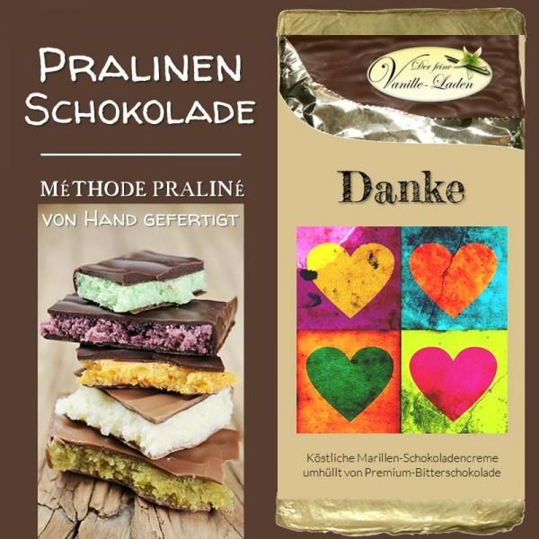 """""""Danke!"""" Pralinen-Schokolade (Marille)"""
