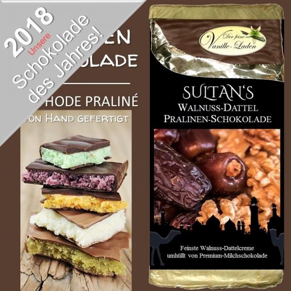 SULTAN'S Walnuss-Dattel Pralinen-Schokolade