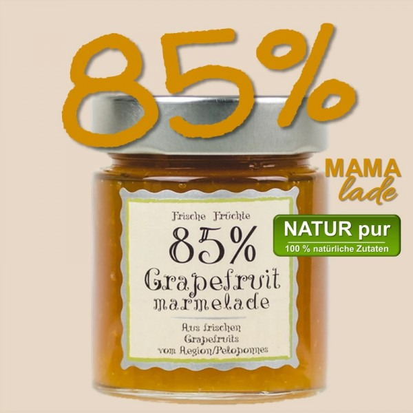 85% GRAPEFRUIT MARMELADE aus Aegion, Nordpeloponnes