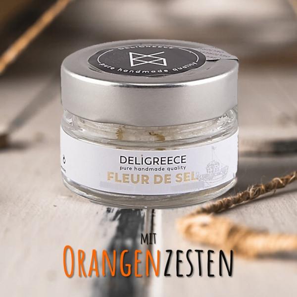 FLEUR DE SEL mit OrangenZesten - handgeschöpft von Kreta
